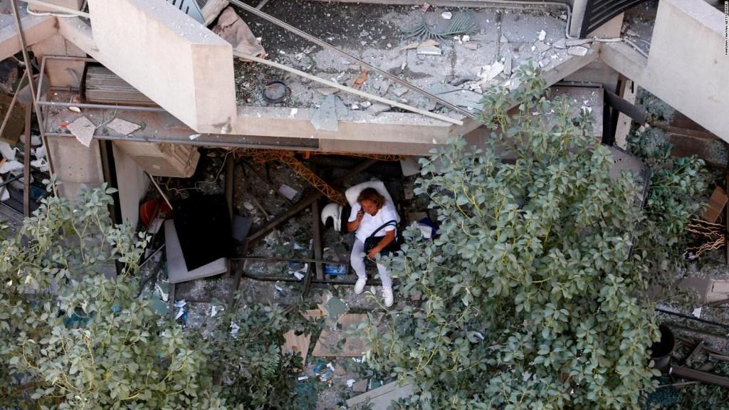 Así se vió la explosión en Beirut