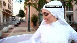 Explosión de Beirut interrumpe el video de una novia