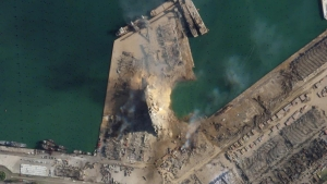 Imágenes satelitales muestran la devastación en Beirut