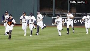 Los Astros de Houston se unen a la lucha contra la pandemia de covid-19