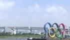 Retiran los anillos olímpicos de la bahía de Tokio