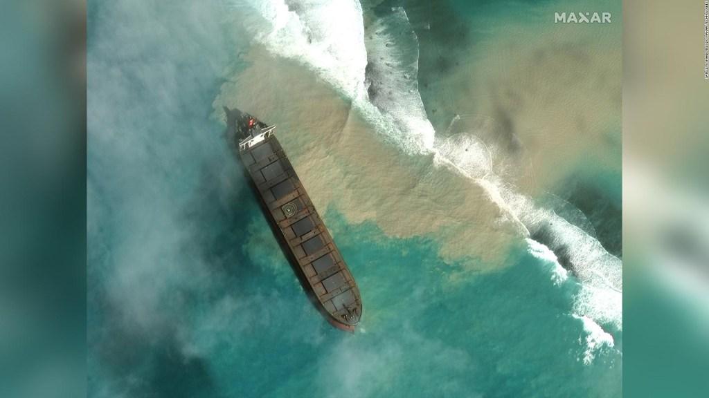La isla de Mauricio, ante posible catástrofe ambiental