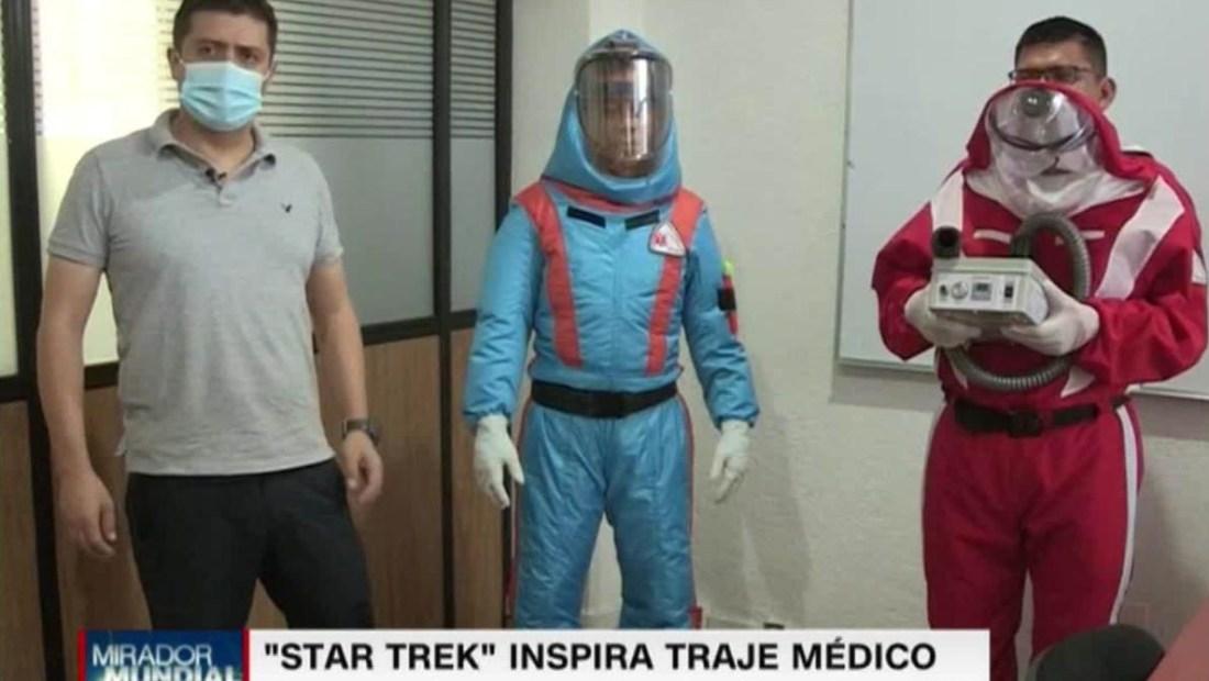 México: diseñan traje contra covid-19 inspirados en Star Trek