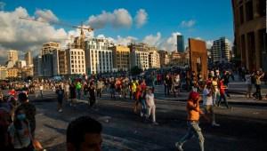 La furia tras la explosión desata protestas en Beirut