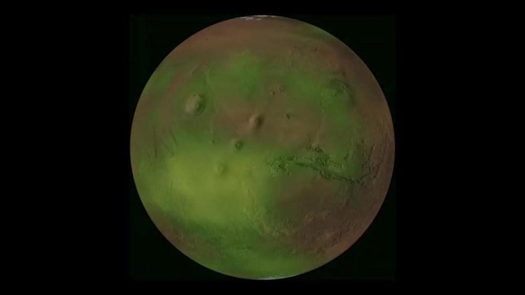 Así son las pulsaciones de luz ultravioleta de Marte