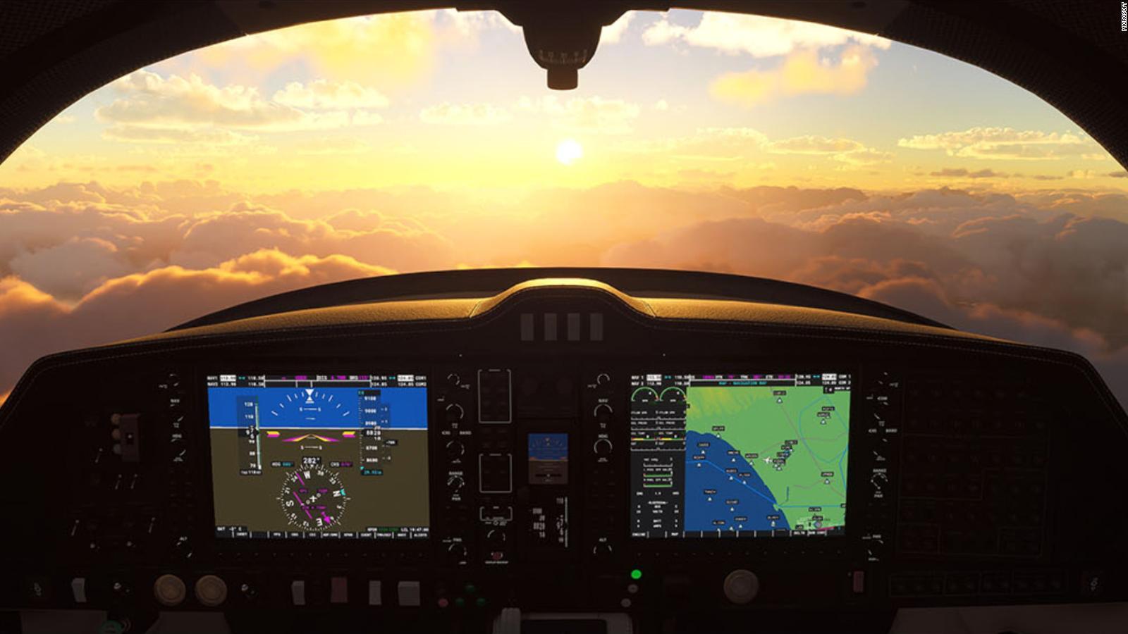 Microsoft Flight Simulator regresa después de 14 años con tráfico aéreo en tiempo real y un detallado mapa mundial   Video   CNN