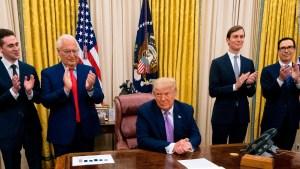 Los intereses de Trump en el acuerdo en Medio Oriente