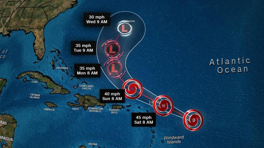 Avanza tormenta Josephine y potencial ciclón en las Carolinas