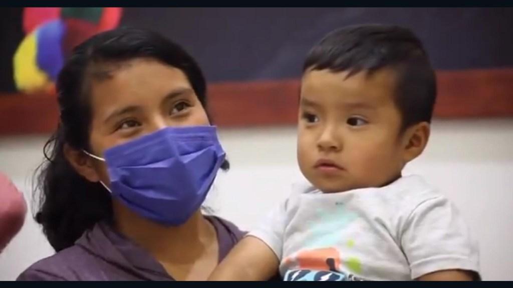 Así fue el reencuentro de Dylan y su mamá, tras rescate