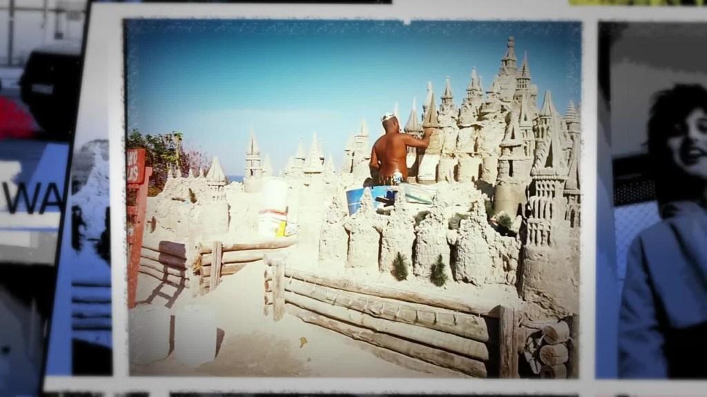 El hombre detrás de gigantes esculturas de arena en Brasil