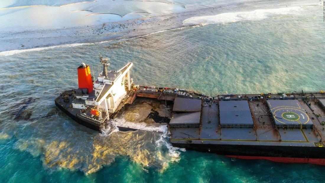 Arrestos por el derrame de petróleo en la isla de Mauricio
