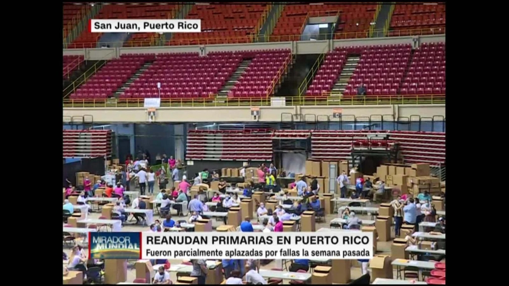 Reanudan elecciones primarias en Puerto Rico