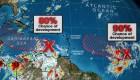 Múltiple amenaza tropical en el Atlántico