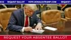 """Video muestra """"voto en ausencia"""" de Trump"""