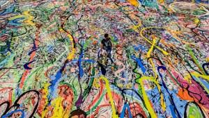 Mira la pintura sobre lienzo más grande del mundo