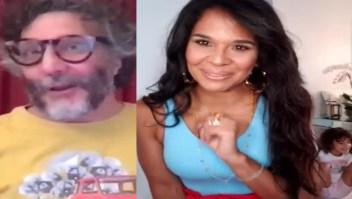 Mi hija irrumpe en entrevista con Fito Páez