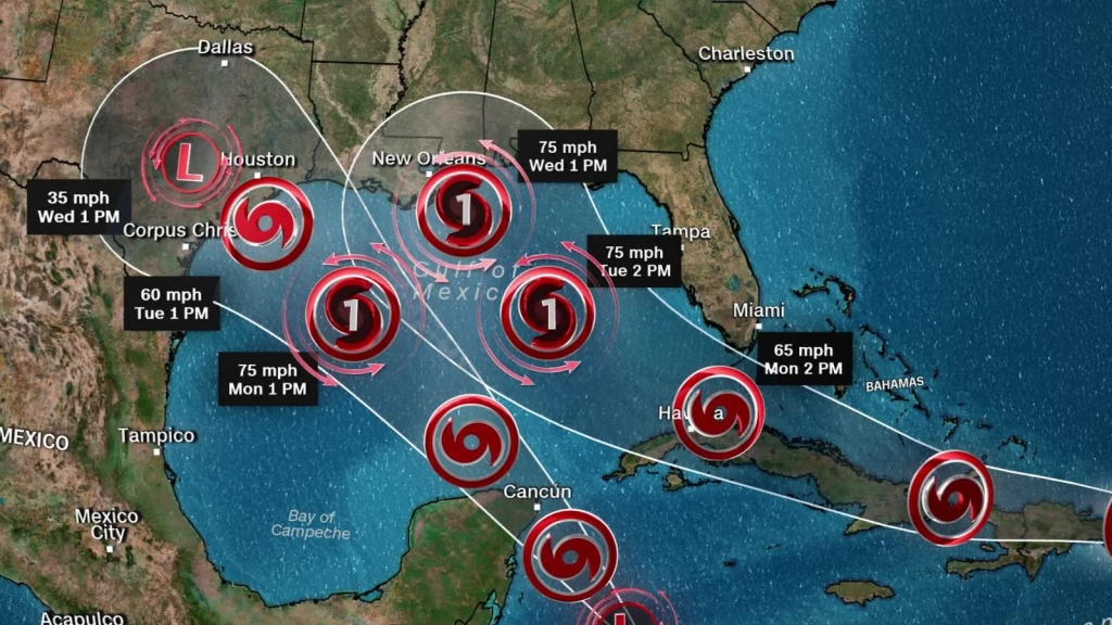 The double tropical threat in the Caribbean Sea