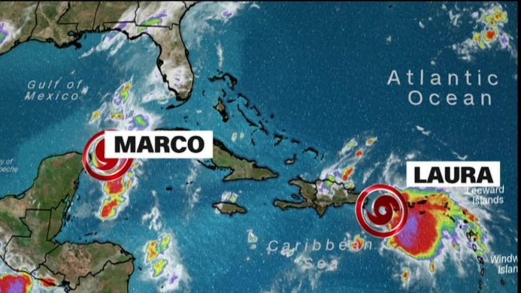 Tropical storm Laura threatens the Dominican Republic