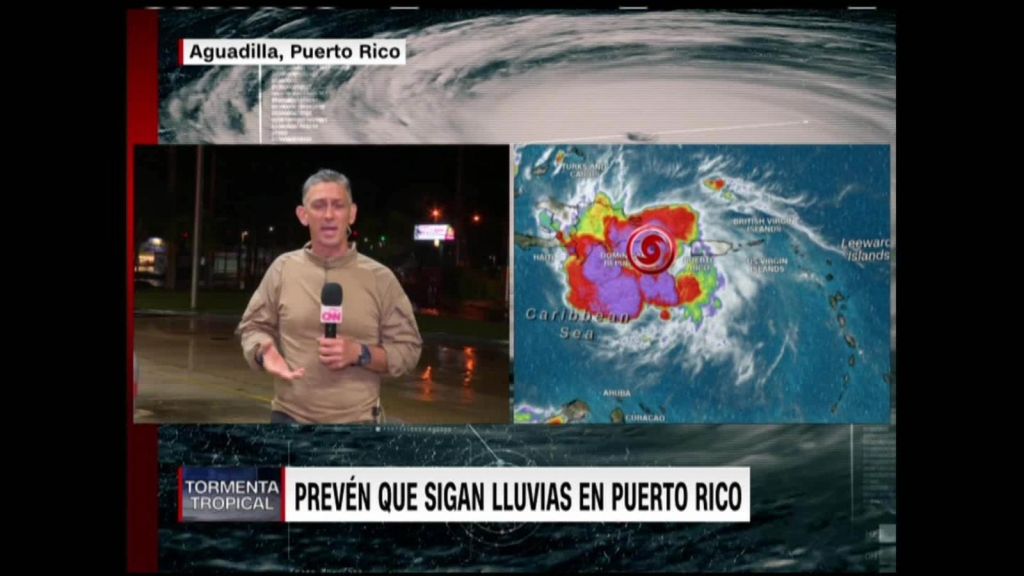 The passage of storm Laura through Puerto Rico