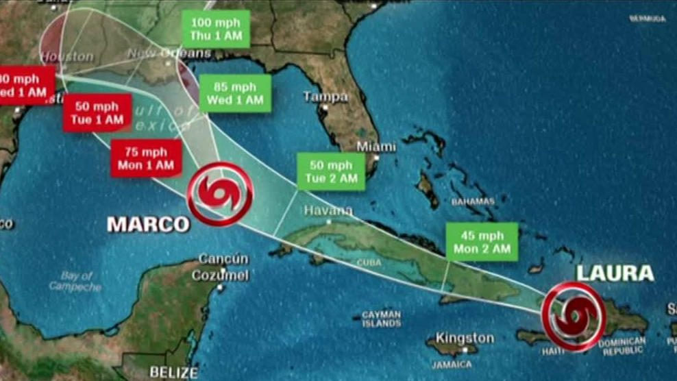 Laura could have sustained winds of 160 km / h