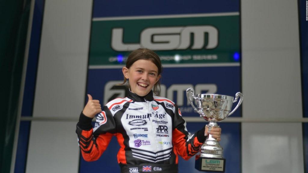 La niña que quiere correr en la F1 con Ferrari