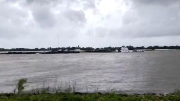Huracán Laura, tan fuerte que revirtió el río Mississippi