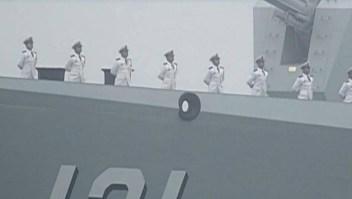 China lanzó misiles al mar