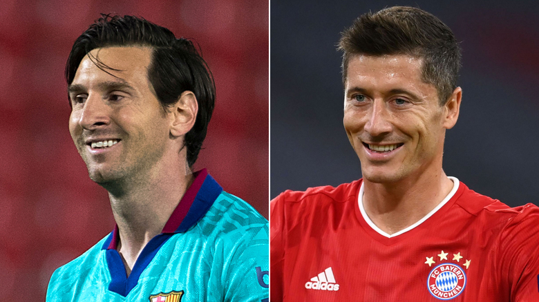 Lionel Messi se enfrenta a Robert Lewandowski en un choque de titanes