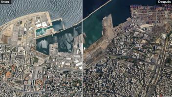 Explosión Beirut antes y después daños imágenes satelitales