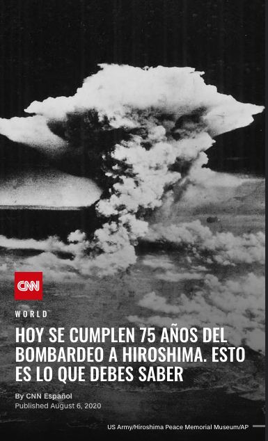 Hiroshima 75 años fotos históricas aniversario bomba atómica destrucción Japón Estados Unidos Guerra Mundial muertos daños imágenes destrucción