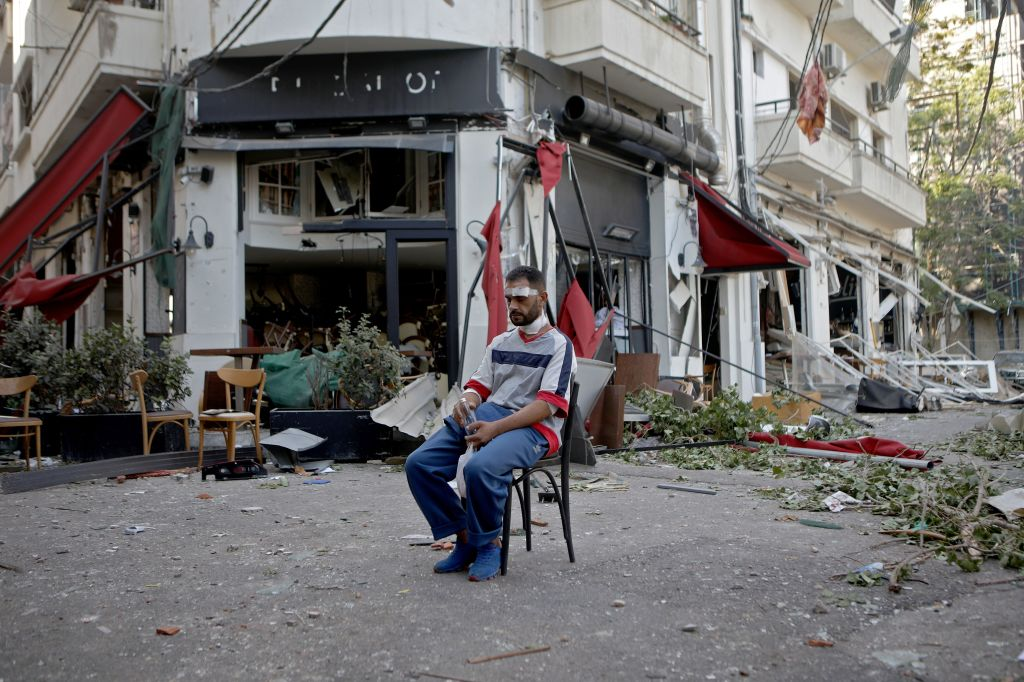 Explosión Beirut desplazados fotos día después