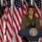 Melania Trump da discurso desde la Casa Blanca para la Convención Republicana