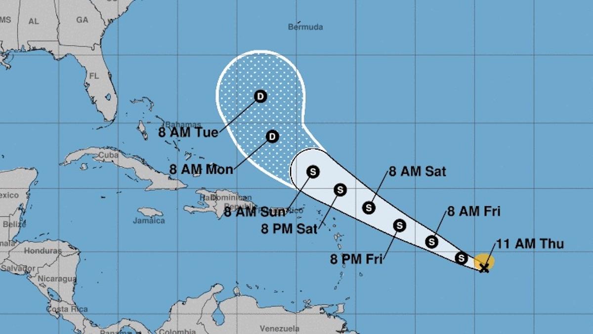 Josephine, la nueva tormenta tropical en el Atlántico en la temporada 2020