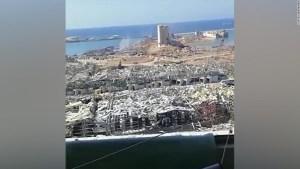 Una pareja parada a menos de 600 metros del lugar de la explosión sobrevive a la explosión de Beirut