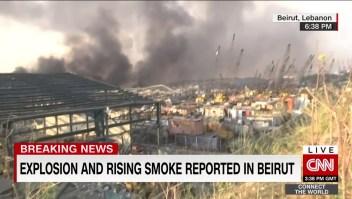 Reportan fuerte explosión en Beirut