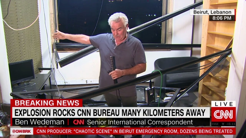 Explosión en Beirut causa daños al buró de CNN