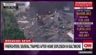 Bomberos intentan ayudar en una explosión en Baltimore