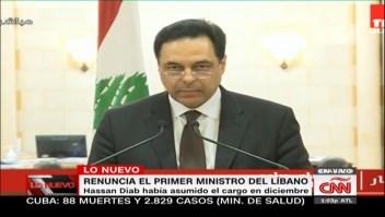Renuncia primer ministro de Líbano, Hassan Diab