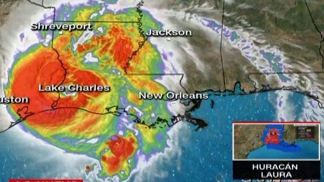 Huracán Laura avanza en EE.UU. como categoría 1