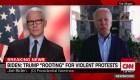 """Joe Biden a CNN: """"Trump está animando las protestas violentas"""""""