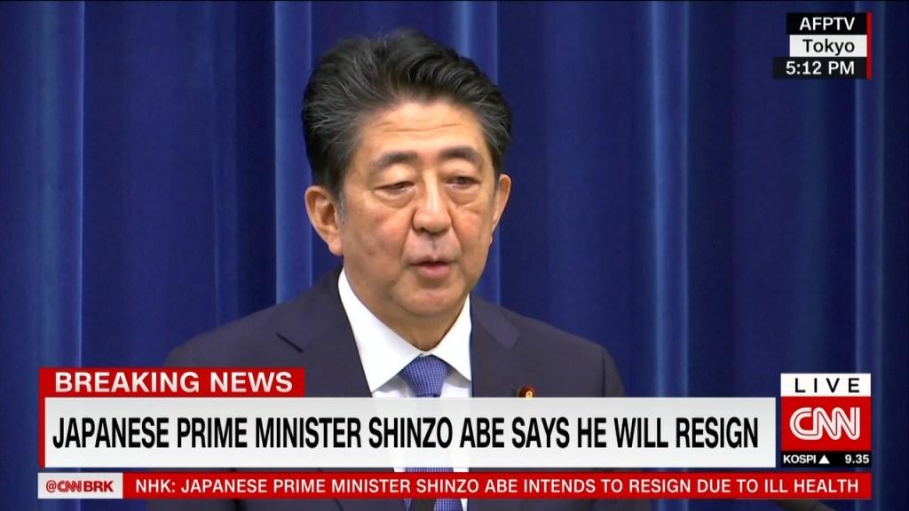 Así anunció su dimisión Shinzo Abe, primer ministro de Japón