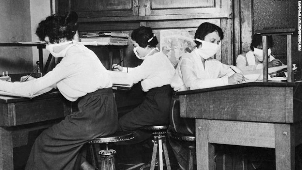 pandemia influenza gripe 1918 coronavirus