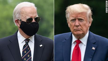 El presidente Trump se mofa de Biden por usar mascarilla