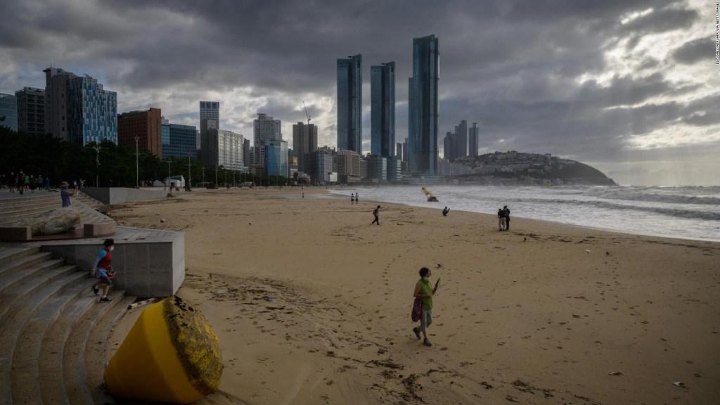 El tifón Maysak golpea a las dos Coreas