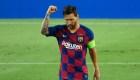 El FC Barcelona celebra la permanencia de Lionel Messi