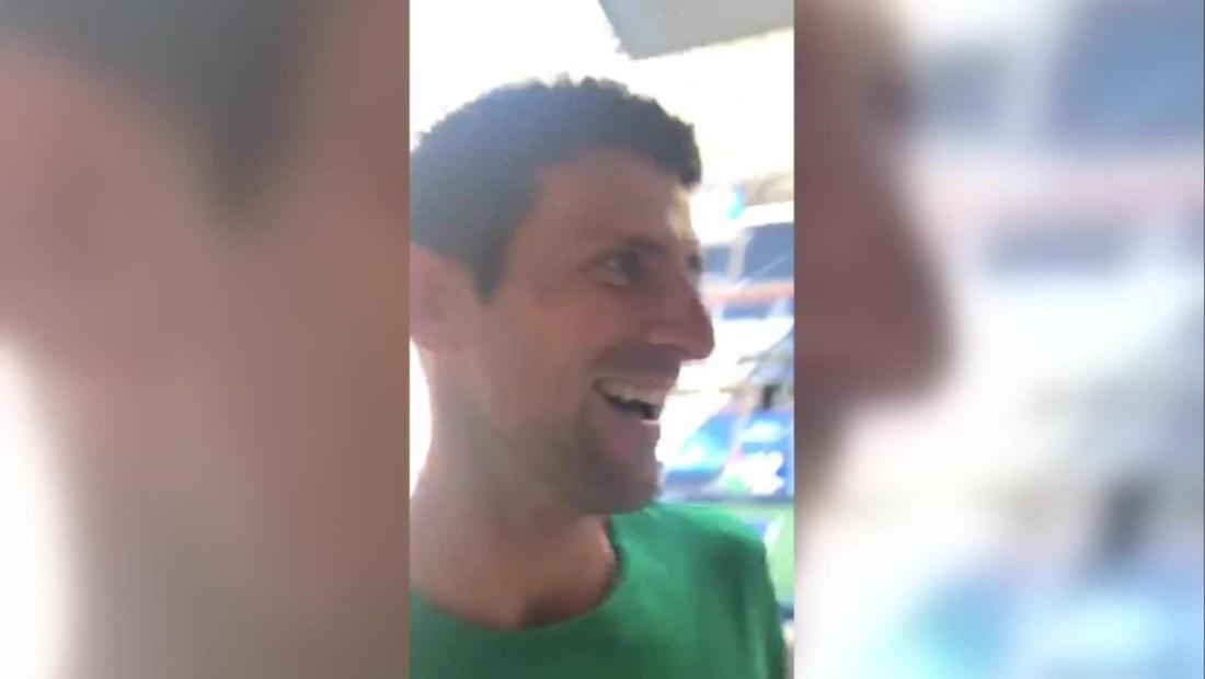 Novak Djokovic: un bailecito ¡y a jugar!