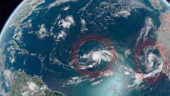 Triple amenaza tropical en el océano Atlántico