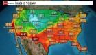Clima contrastante en EE.UU.