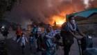 Incendio destruye campo de migrantes más grande de Europa