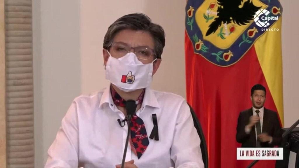 La violencia no es la solución, dice alcaldesa de Bogotá